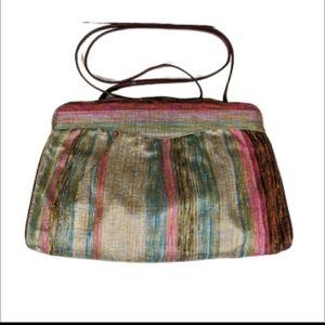 Vintage 100% Silk Envelope Clutch Style Bag